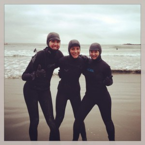 ladies in wetsuits